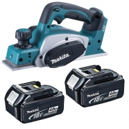 Makita DKP180RMJ 82MM 18V Cordless Planer with 2x 4.0Ah Li-Ion Batteries Boston Lincolnshire