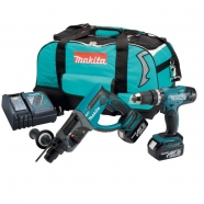 Makita DLX2025 18V Li-ion Twinpack DHR202, DHP453, 2x 3.0Ah Batteries and Toolbag Lincolnshire