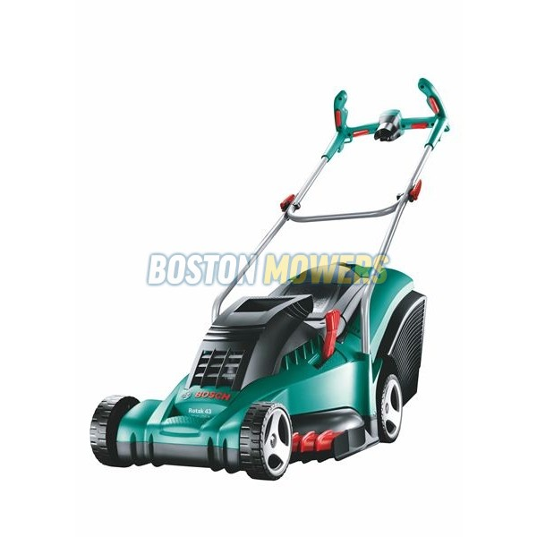 bosch rotak 43 ergoflex electric lawnmower 0600881370 boston mowers lincolnshire. Black Bedroom Furniture Sets. Home Design Ideas
